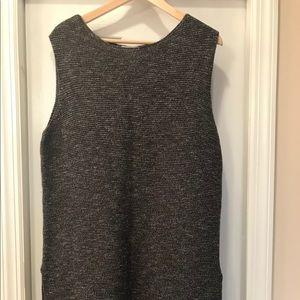 Grey short sweater dress